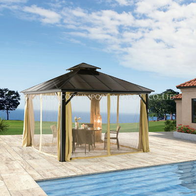 Outdoor Luxyry Gazebo with Curtain+mosquito Net for Villa
