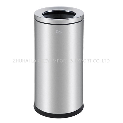 Hotel stainless steel indoor dustbins two layer
