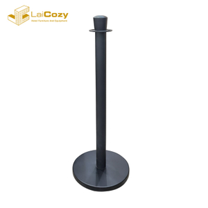 Queue rope crowd control stainless steel barrier post