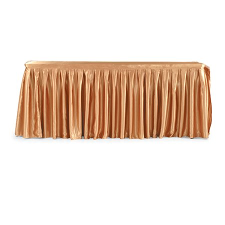 Good Quality Hotel Restanrant Wedding Party Banquet Table Skirting With Velco Polyester Table Linen Table Skirts Steps for Decoration