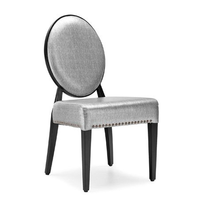 hotel modern metal chair with durabled frame and colored fabric for restaurant