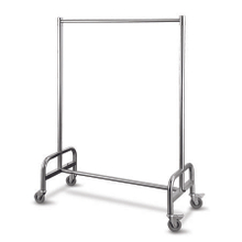 Stainless steel garment carts with four wheels for hotel