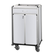 aluminium beverage restocking carts with door and lock for hotel