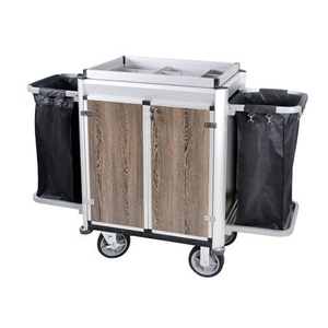 Hotel Aluminum Housekeeping Laundry Cleaning Cart with Door