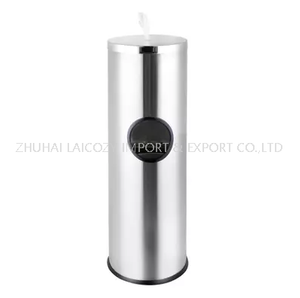 Stainless Gym Hand Wet Wipe Dispenser Disinfection Stand