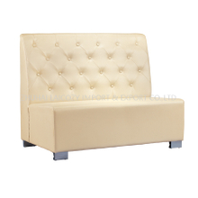 Hotel Restaurant Modern Customized Upholstered PU Leather Sofa