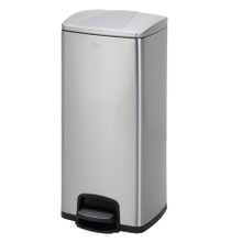 430 Stainless Steel Pedal Dustbin Waste Trash Bin 30L