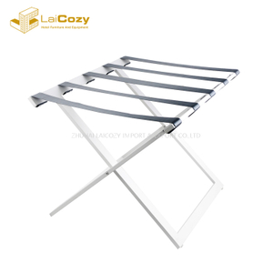 Durable Hotel guestroom Folding iron suitcase luggage rack
