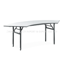 Hotel Restaurant PVC Plywood Top Annular Banquet Table
