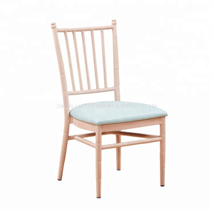 Hotel Restaurant Aluminum Frame Tiffany Wood Chiavari Chairs