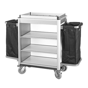 Hotel Aluminum Housekeeping Maid Cleaning Trolley