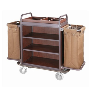 Durable steel housekeeping laundry collected cart
