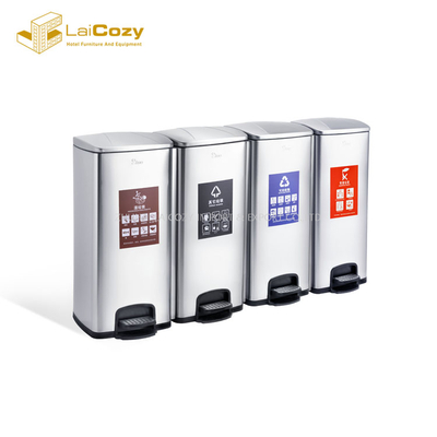 Kitchen staliness steel classify indoor pedal dustbins