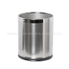 Guestroom round stainless steel indoor dustbins two layer