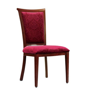 hotel restaurant stackable molded foam aluminum chair with colored fabric