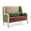 Steel sofa chair with armrest for hotel room or restaurant