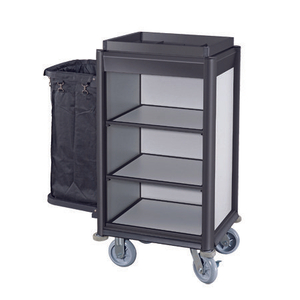 hotel aluminium housekeeping maid cart wheeled