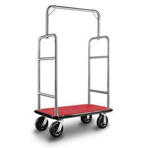 Used lightweight wheeled thick tube hotel Luggage Cart