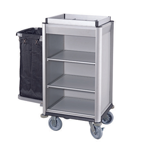 small hotel metal housekeeping trolley