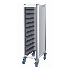 Hotel transportation Lightweight serving tray trolley