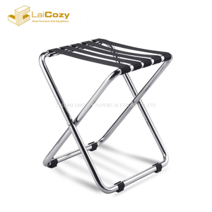 Custom portable compact Hotel bedoom Folding baggage stand