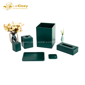 Elegant Hotel customized Guestroom resin bathroom Set