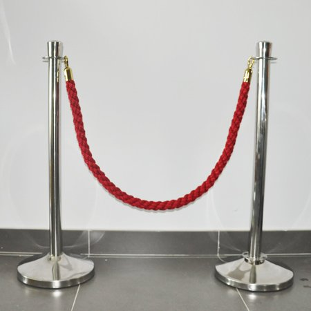 Poly Ropes red color stanchion ropes crowd control ropes with hook