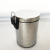 Hotel indoor Stainless Steel Foot Pedal room dustbin