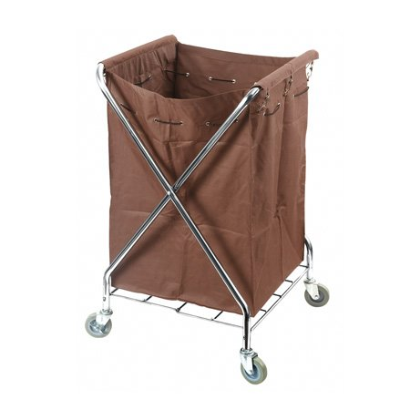 hotel wheeled x stainless steel frame laundry cart with bag for linen