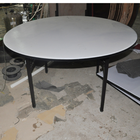 Durable Foldable Plywood Round hotel Restaurant Banquet Table