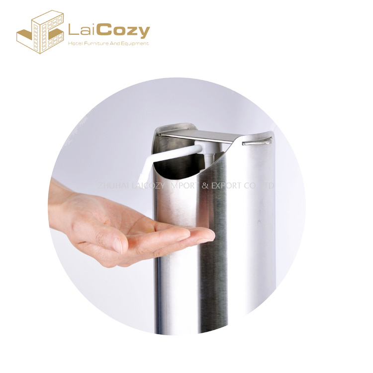 Floor Standing Stainless Pedal Hand Soap Dispenser Stand