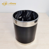 Hotel guestroom stainless steel indoor metal dustbins