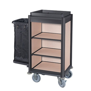 Hotel Small Aluminum Guestroom service Housekeeping Maid Cart