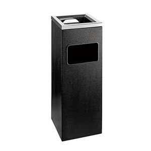 Hotel lobby black coating indoor metal dustbins ashtray