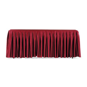good quality hotel restanrant wedding party banquet table skirting