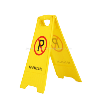 Yellow Caution Sign Board No Parking Warning Sign