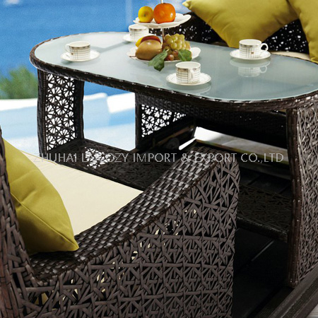 Rocking Chair Set for 4 people (PE Rattan+aluminum Frame)