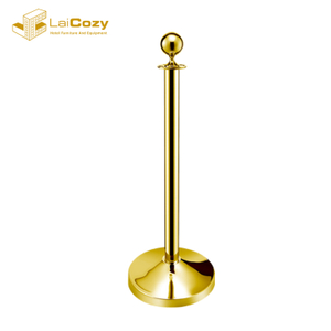 Ball top titanium golden stainless steel stanchion post