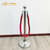 Polished stainless steel crowd control stanchion posts barrier