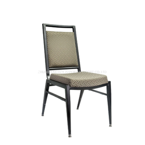 Commercial Restaurant Square Back Aluminum Stackable Wedding Chairs