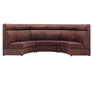 Modern fabric upholstered semi circle dining sofas for restaurant