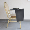 hotel stackable aluminum banquet chair with writing table