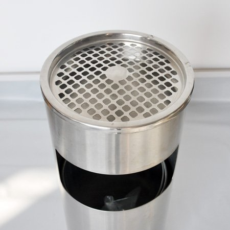 Hotel Lobby Outdoor Stainless Steel Brushed Finish Rubbish Bin