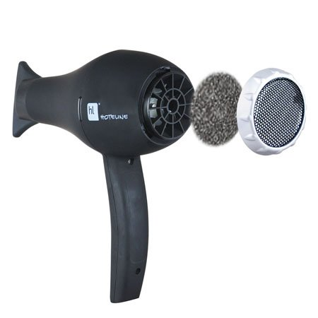 Hotel Black Safety Ionic Wall Mounted Hair Dryer
