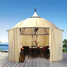 Outdoor Luxyry Gazebo (Iron +Waterproof Fabric+Curtain)