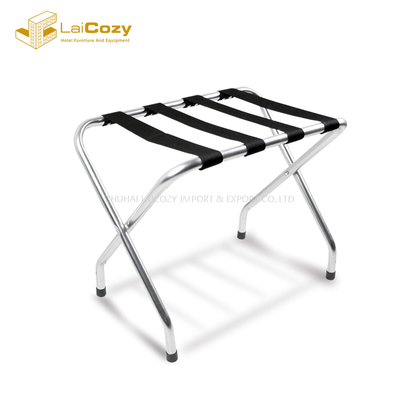 Hotel Furniture Foldable Steel Luggage Rack For Bedroom