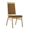 Luxury Hotel Banquet Aluminum Chair with Flexible Back Modern Durable Restaurant Chair with Adjustable Foot Pad