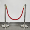 Crowd Control Stanchion Queue line barrier Hanging red poly ropes with hardware