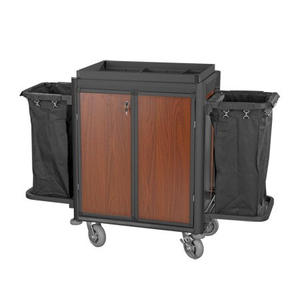 Good Quality Hotel Aluminum Housekeeping Maid Service Trolley
