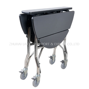 Foldable hotel stainless steel room service trolley